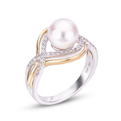 4a7d10e22 14K White Gold Freshwater Pearl Ring | Goldsmith Jewelers