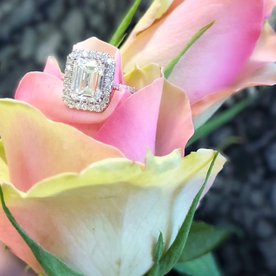 Spotlight on Martin Flyer Emerald Shape Engagement Rings | Goldsmith ...