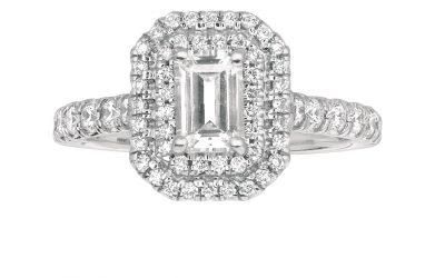 Spotlight on Martin Flyer Emerald Shape Engagement Rings